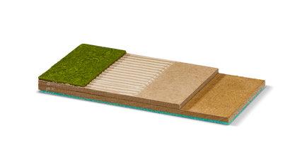 Jumpax® HD is een egaliserend en contactgeluidreducerende ondervloer voor zwaar project gebruik.