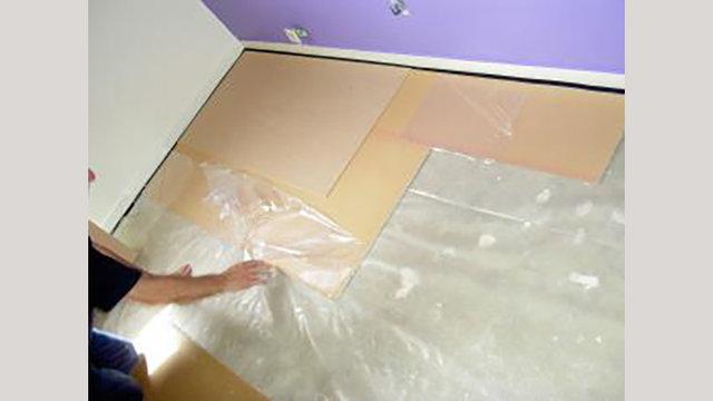snelle vloervoorbereiding en egalisatie voor vinylstroken op Jumpax