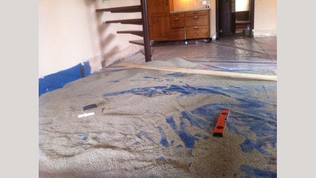 Ecopearls® voor het waterpas maken van de ondergrond.